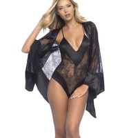 Lace Teddy with Lace Robe