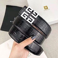 Givenchy Fashion New Pattern Buckle Women Men Leisure Belt Black With Box