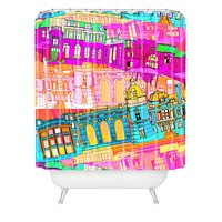 Aimee St Hill City Scape Shower Curtain