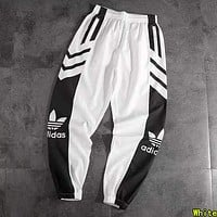 ADIDAS Woman Men Fashion Running Pants Trousers Sweatpants White