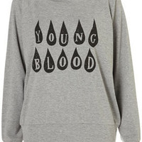Young Blood Raglan by Illustrated People** - Jersey Tops  - Clothing  - Topshop