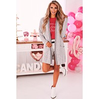 It's For The Best Open Front Cardigan (Heather Gray)