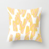 Sunny Yellow - abstract Throw Pillow by Allyson Johnson | Society6