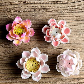 Miniature Ceramic Lotus Flower Wall Decoration