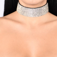 Never Too Late Choker - Silver