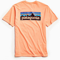 Patagonia Peach P-6 Logo Pocket Tee | Urban Outfitters