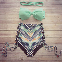 Summer Swimsuit New Arrival Hot Beach Swimwear Butterfly High Waist Sexy Stylish Bikini [10953874447]
