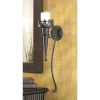 Medieval Style Gothic Pillar Candle Wall Sconce