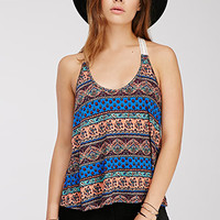 Striped Paisley Halter Top
