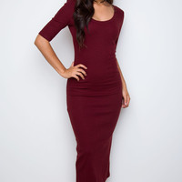 Hadley Dress - Burgundy