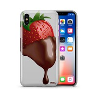 Chocolate Covered Strawberry - Clear TPU Case Cover