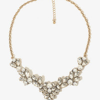 Rhinestone & Pearlescent Chain Necklace | FOREVER 21 - 1000049771