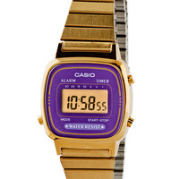 LA670WGA-6 Casio Gold & Purple Ladies Digital Watch | American Apparel