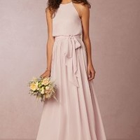 Alana  Wedding Guest  Wedding Guest Dress by Anthropologie x BHLDN in Palest Pink Size: