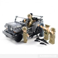 Army Jeep and Minifigures - Lego Compatible
