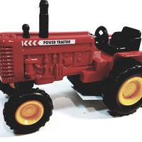 """SF Toys Red Power Farmall Tractor 4"""" Ride-On Farm Vehicle 1/38 O Scale Diecast"""