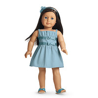 American Girl® Clothing: Double-Bow Dress for Dolls + Charm