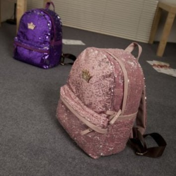 Comfort Back To School College Hot Deal On Sale Stylish Bags Korean Hot Sale Crown Casual Backpack [6582162823]
