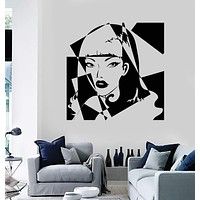 Vinyl Wall Decal Pop Art Girl Beauty Salon Woman Stickers Unique Gift (ig3816)