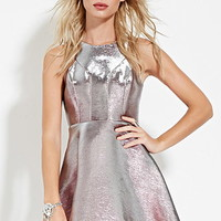 Metallic Fit & Flare Dress