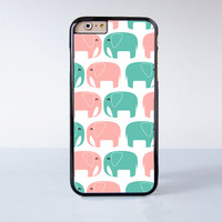 Cute Colorful Little Elephant  Plastic Case Cover for Apple iPhone 6 6 Plus 4 4s 5 5s 5c