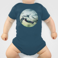 Flying Green Sea Turtle Baby Clothes by Nirvana.K