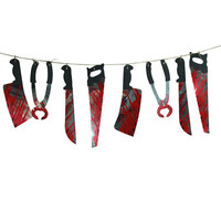 1 Set Thin Spooky Halloween Hanging Garland Banner
