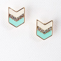 Indio Chevron Studs in Mint