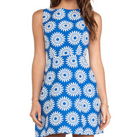 Alice + Olivia Epstein Structured Pouf Dress in Blue