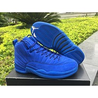Air Jordan 12 Retro Premium Deep Royal Blue AJ12 Sneakers