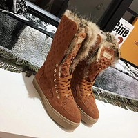 LOUIS VUITTON Rabbit hair fashionable leisure boots-12