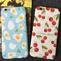 Unique Solid Egg Cherry iPhone 5s 5se 6 6s Plus Case Solid Cover + Gift Box 390