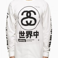 Long sleeve tee from the S/S2015 Stussy collection in white