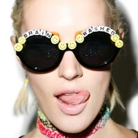 Rad and Refined Brain Washed Sunglasses Black One
