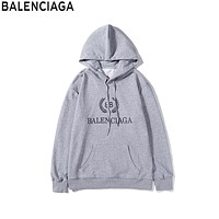 Balenciaga Tide brand double B wheat ear print hooded sweater Grey