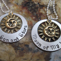 Necklace, necklace for her/him, Game of Thrones necklace,double sides, moon of my life ,Sun and Stars necklace