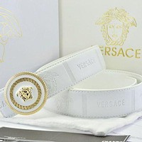Versace Fashion Smooth Buckle Belt Leather Belt-5