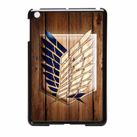 Attack On Titan Legion Logo Wood iPad Mini Case