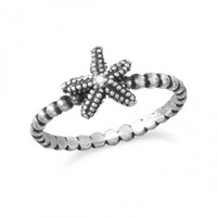 Oxidized Starfish Ring