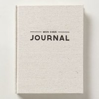 Mon Cher Journal by Anthropologie Grey One Size House & Home