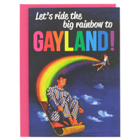 big rainbow to gayland card at Paperchase