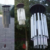 27 Tubes Silver Wind Chimes
