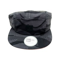 New Era x Secret Society Dark Camo 5 Panel Camper Strapback Hat Black Camo