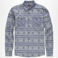 Ambig Noor Mens Shirt Indigo  In Sizes