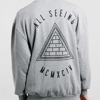 GREY FOR REAL FRONT AND BACK VINTAGE OVERSIZED SWEATSHIRT - New This Week - New In