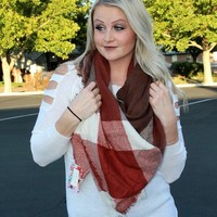 Blanket Scarf - Cherry Chocolate