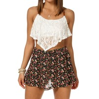 Sale-crochet Racerback Cropped Top