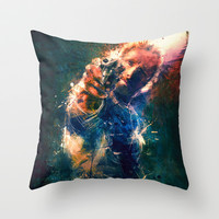 TwD Rick Grimes. Throw Pillow by Emiliano Morciano (Ateyo)