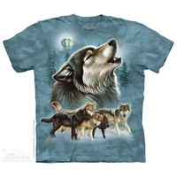 Old School Wolf Collage T-Shirt