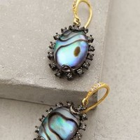 Abalone Drops by Indulgems Grey Motif One Size Earrings